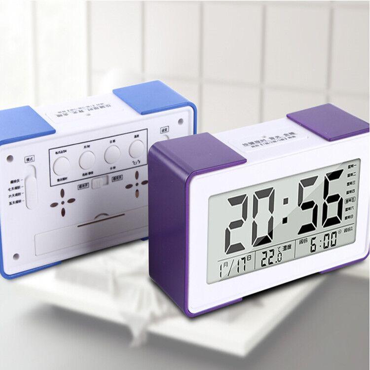 德国原创音乐闹钟创意学生静音床头夜光数字时钟儿童闹铃电子钟表