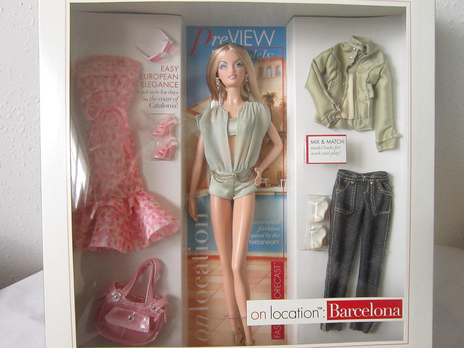 ON LOCATION BARCELONA BARBIE 2007 超模 巴塞羅那 芭比娃娃珍藏
