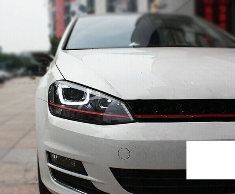 modified headlights led drl bi xenon projector for vw golf. Black Bedroom Furniture Sets. Home Design Ideas