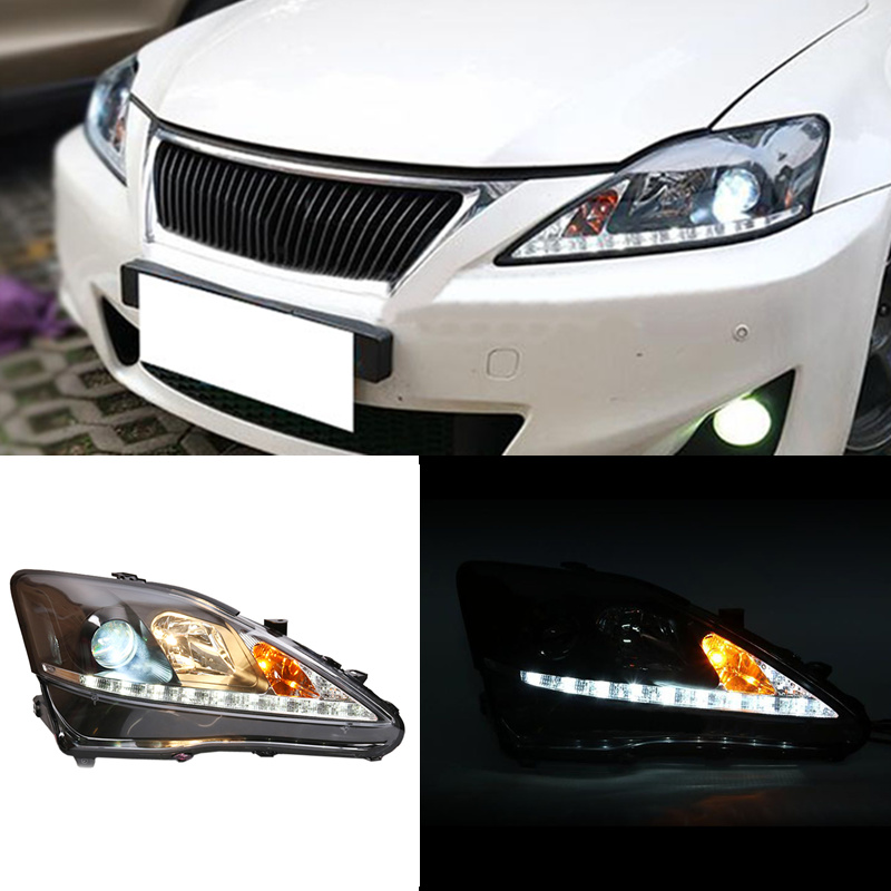 Hid Xenon Headlight Assembly Double Light Lens For Lexus