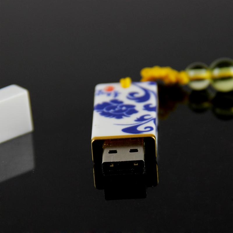 唐礼 青花瓷笔/U盘/鼠标三件套装 中国风送老外商务礼品特色工艺
