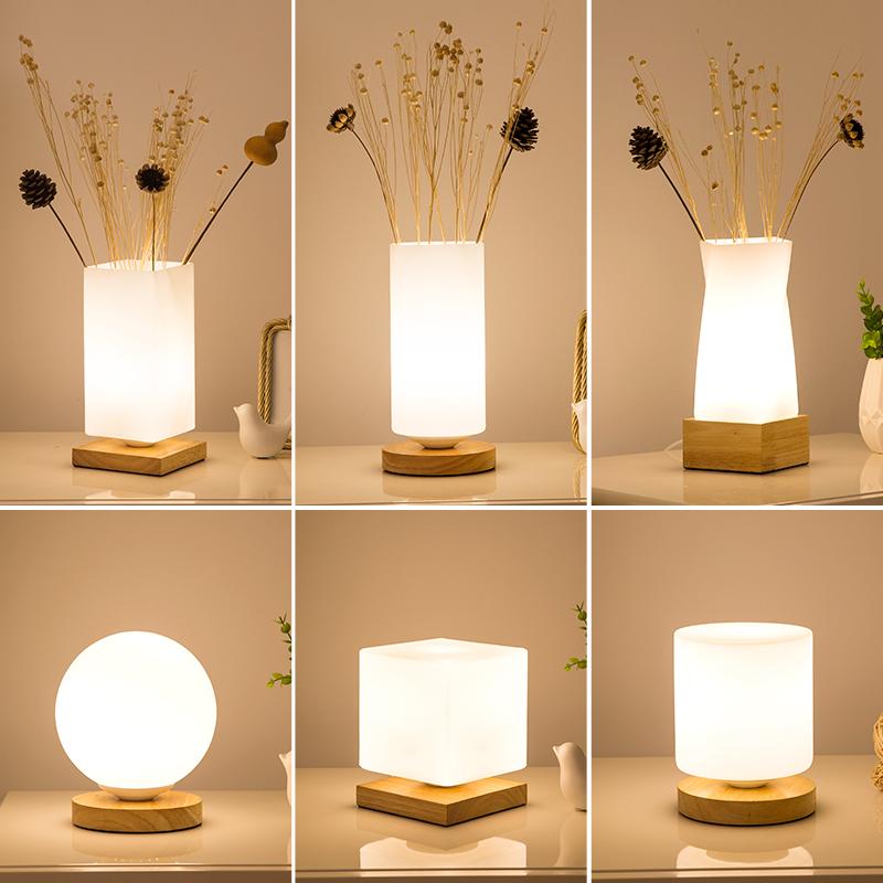 Usd 28 79 Nordic Minimalist Creative Bedroom Bedside Lamp Remote