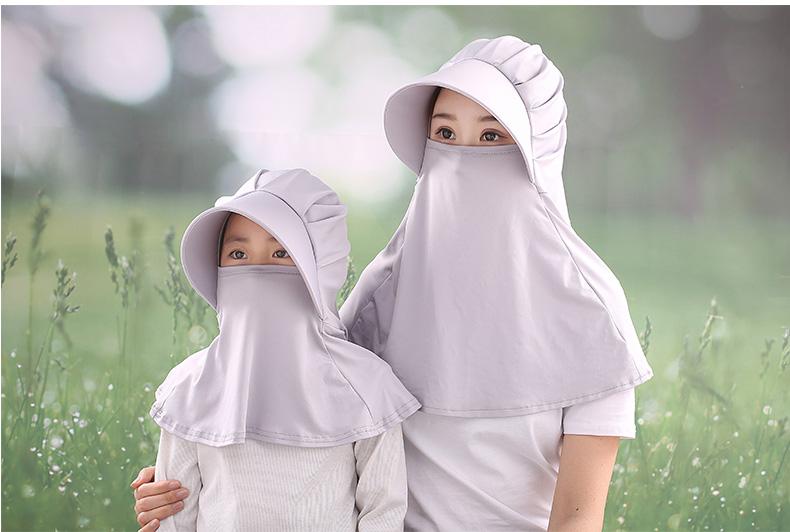 防曬帽子女防紫外線遮臉脖子夏季騎車採茶乾活大帽檐冰絲遮陽戶外