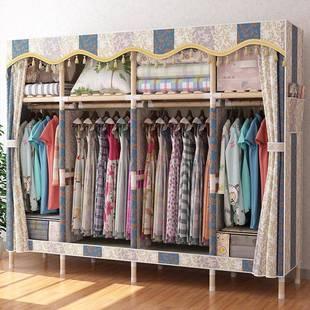簡易布衣櫃實木衣櫃衣櫥收納架