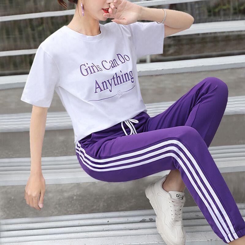 网红女时尚休闲运动2件套装
