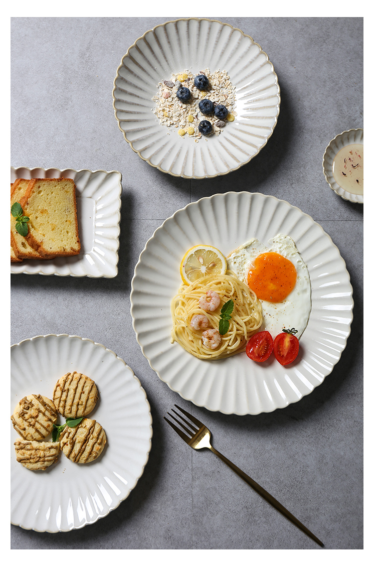 Japanese lace variable glaze ceramic tableware suit dish fish soup bowl rainbow such as bowl dish of rice bowls flavour dish plate glass