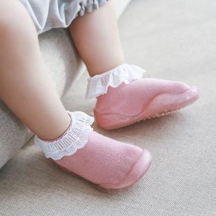 春夏宝宝学步鞋女儿童花边