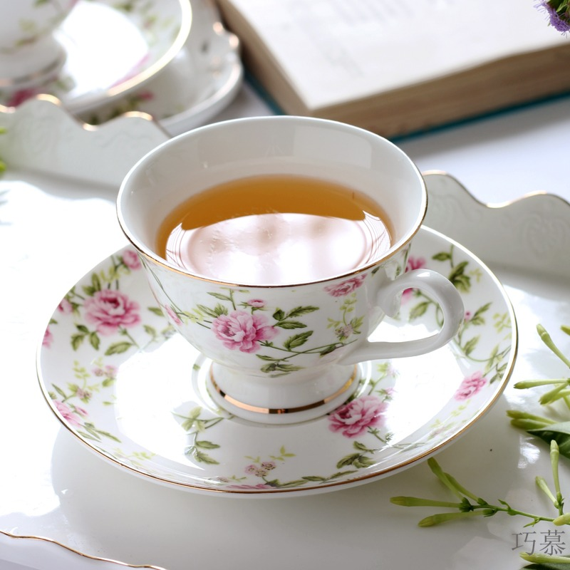 Qiao mu European ceramic coffee cup set contracted hangers coffee cups and saucers English afternoon tea places
