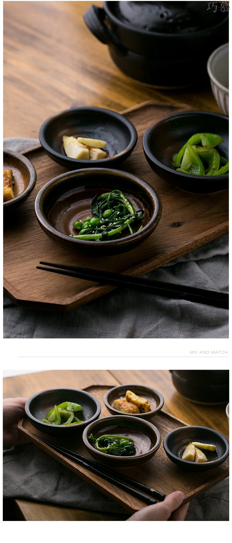 Longed for DY Japanese creativity tableware to restore ancient ways small paste disc ceramic dip seasoning disc, disc home side dish ipads plate