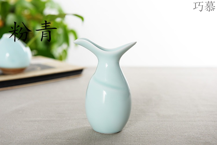 Qiao mu longquan antique bottles pour wine liquor points of household porcelain flask contracted style hot he its drank wine