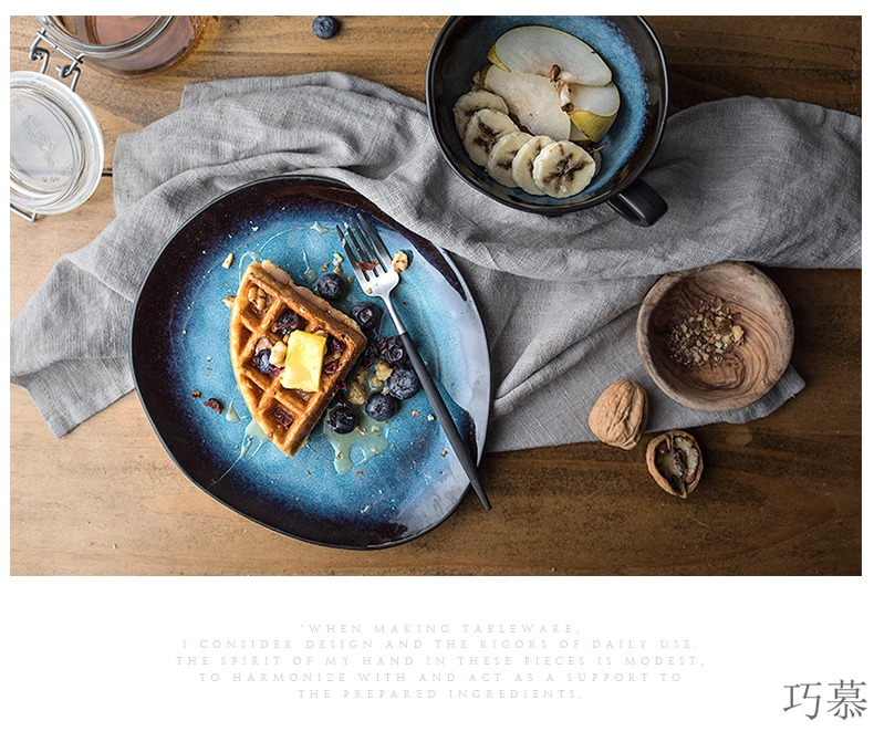 Qiao mu ou irregular snack plate special - shaped plate ceramic plate tray is creative dishes home plate