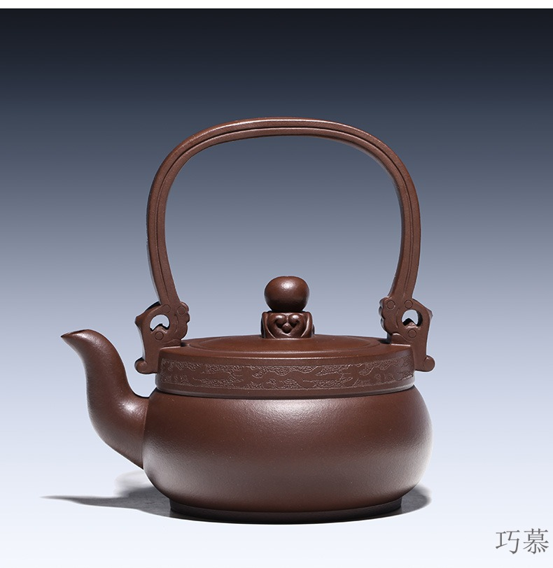 Qiao mu YM yixing ores are it by the pure manual teapot household utensils ancient girder