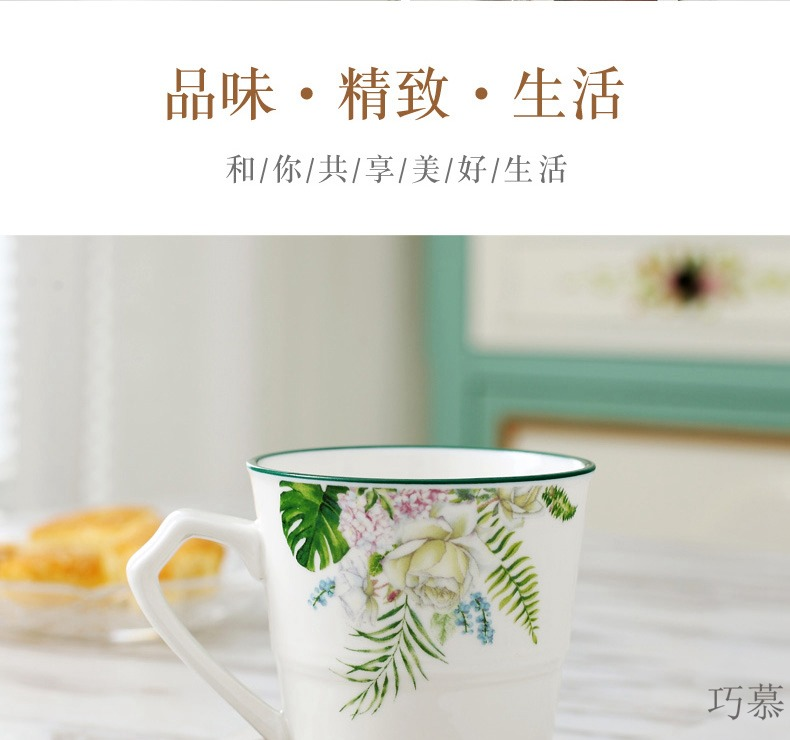 Qiao mu European ceramic tea cup home sitting room 6 only ultimately responds cup set teapot tea cups water in a kettle
