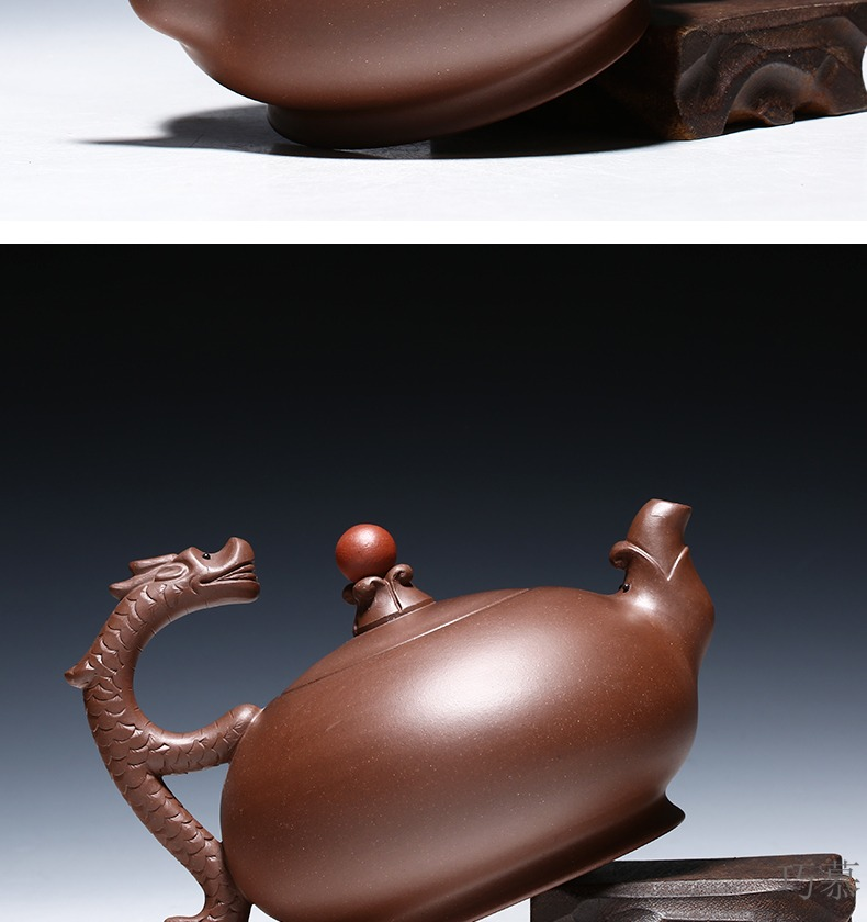 Qiao mu YM yixing ores are it by the pure hand - made tea mercifully dragon purple clay teapot