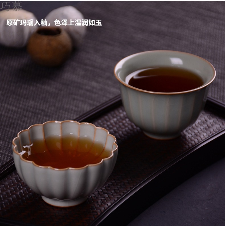 Qiao mu measured your up open cups can raise the master cup of jingdezhen ceramics by hand from the individual sample tea cup