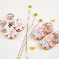 Девушка сандалии лето 0-1-2 лет младенец принцесса обувной 6-12 месяцы мягкое дно скольжение ползунок ребенок сандалии