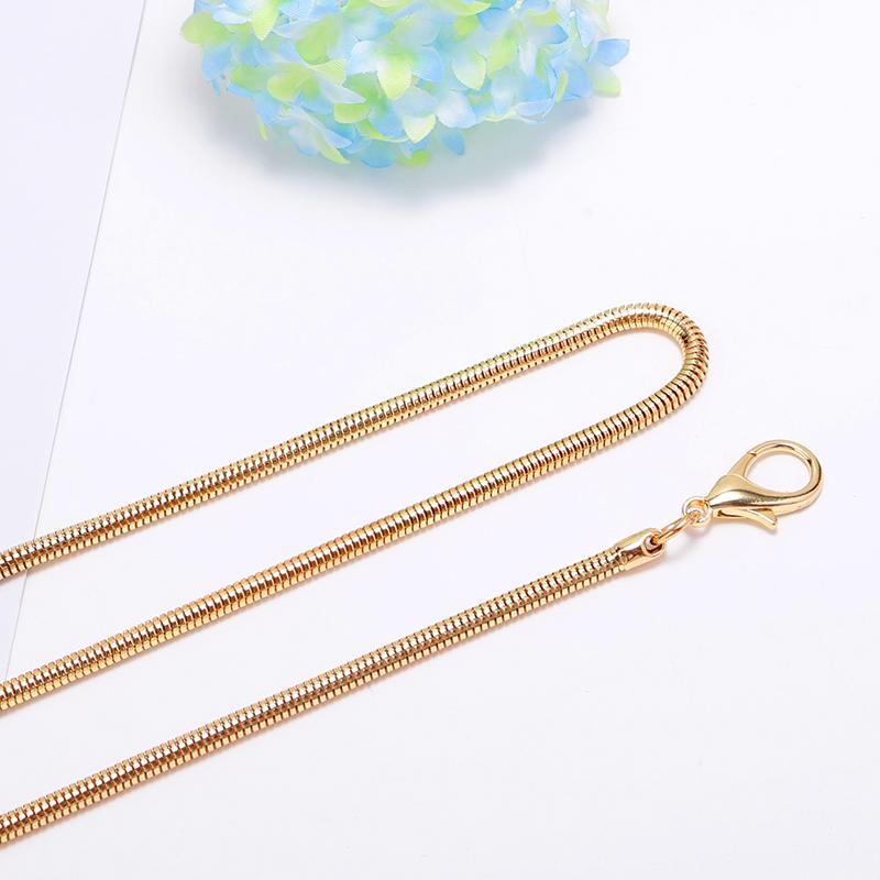 Цвет: Светло золото меньше: длинные цепи 3,2 мм 100 см