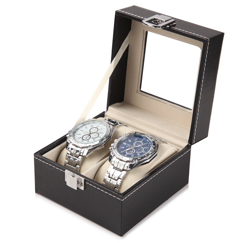 DELUXE EDITION 2 WATCH BOX (GLASS COVER)