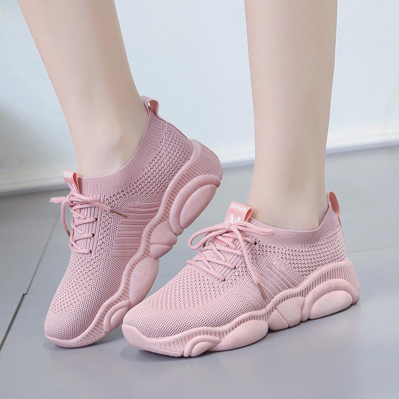 【俊览】韩版百搭轻便透气小熊鞋老爹鞋