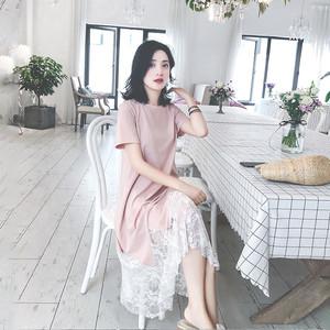 网红爆款气质蕾丝连衣裙