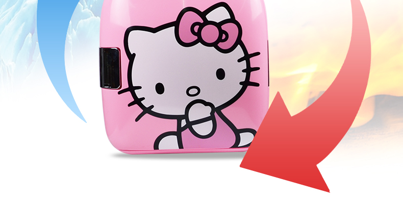 【源生活】凱蒂貓9L小冰箱迷妳小型家用制冷車載冰箱車家兩用學生宿舍單門式