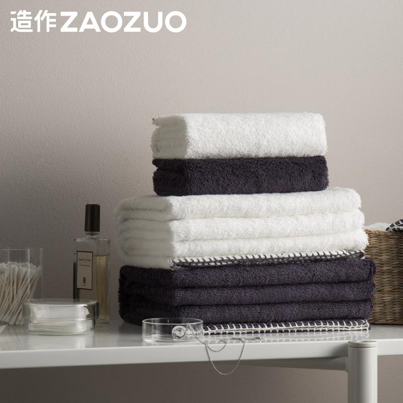 zaozuo造作Couple埃及长绒棉毛巾组纯棉洗脸家用吸水方巾面巾浴巾
