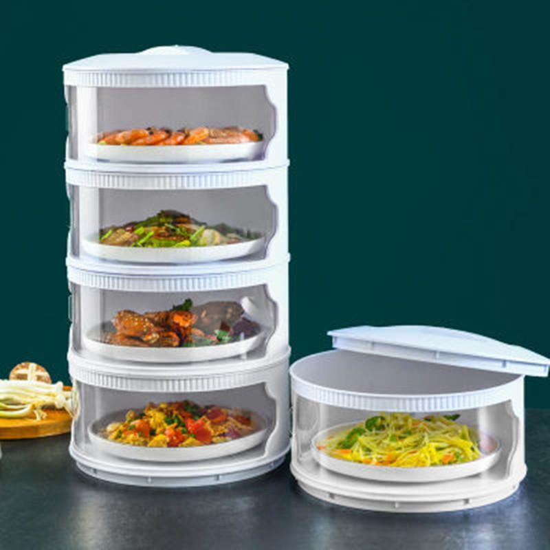 保温菜罩饭菜餐桌罩防尘罩剩菜多层家用菜罩盖子新款多功能可折叠