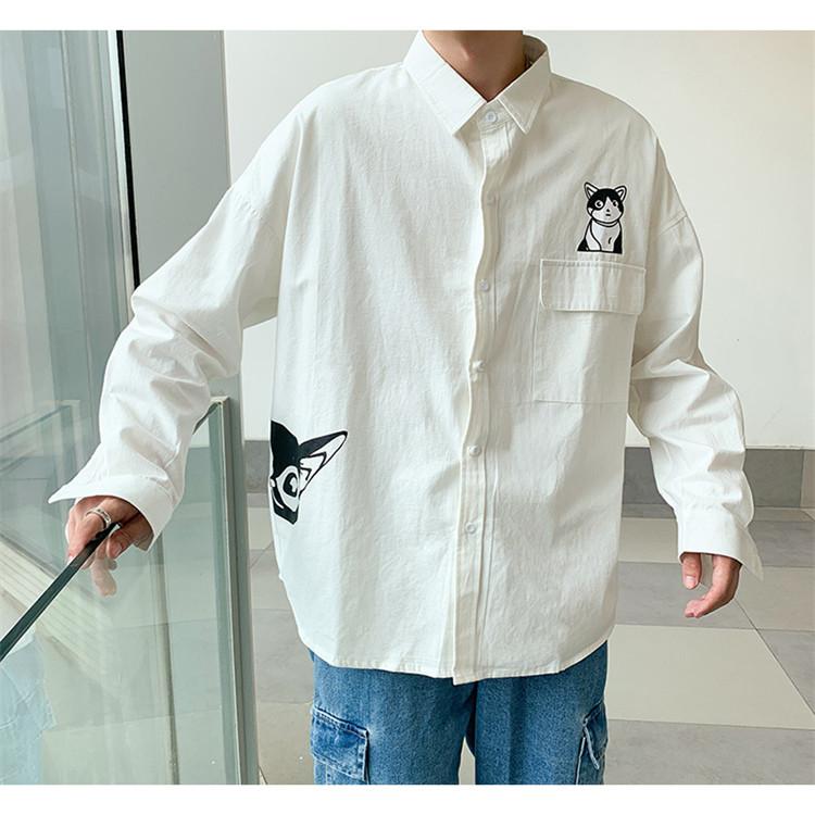 男士新品精品纯棉火影陆飞衬衫714-1-C17-P55短袖5