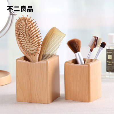 Comb storage tube bucket makeup brush desktop bathroom eyebrow pencil holder comb box box storage box for combs
