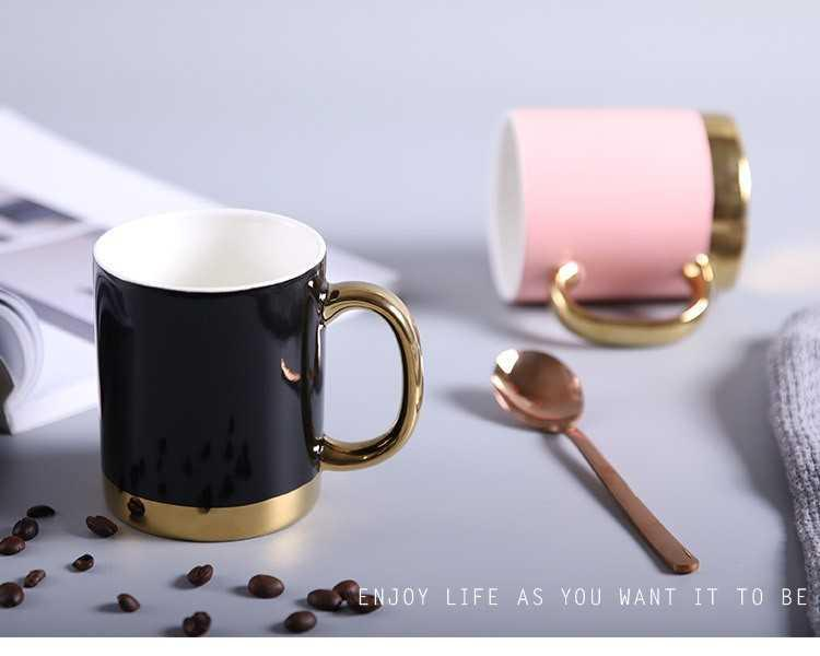 The kitchen creative mugs Nordic contracted ceramic cup coffee cup couples cup with handle paint cup to mark