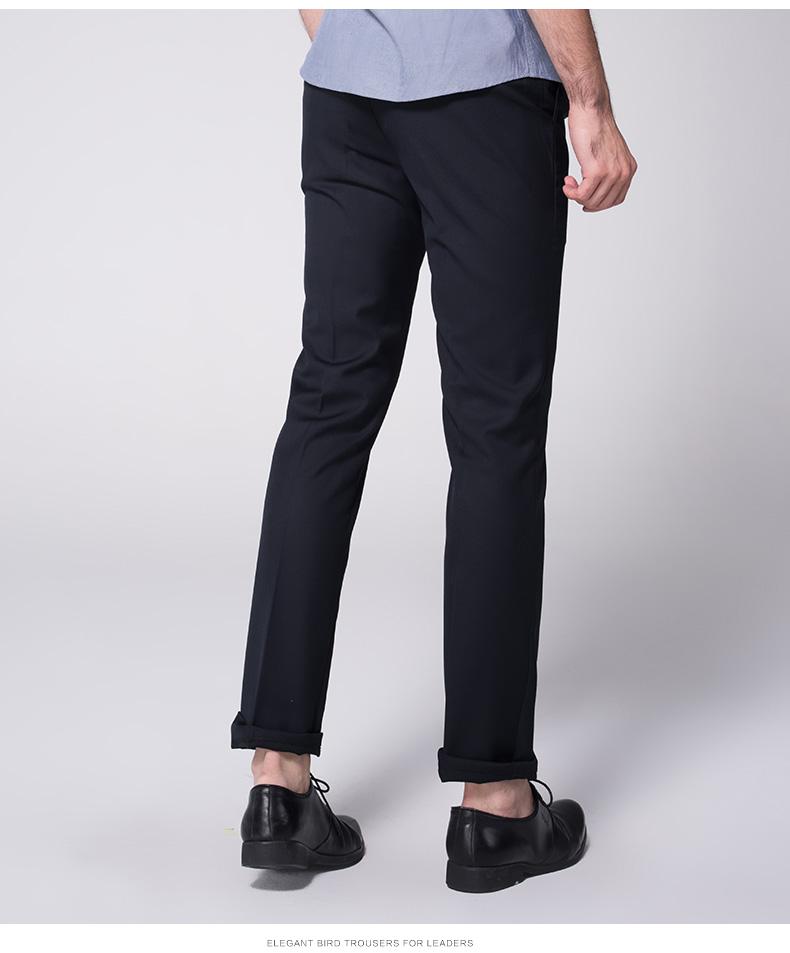 Quần nam chuyên nghiệp của nam giới tự trồng phiên bản Châu Âu của kinh doanh phù hợp với quần ăn mặc thanh niên Hàn Quốc làm việc phù hợp với quần của nam giới