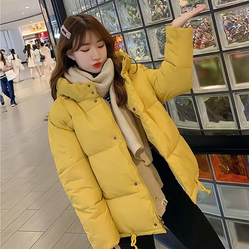 新款2019韩国东学生冬季ins羽绒短款女大门宽松外套bf棉衣棉服女