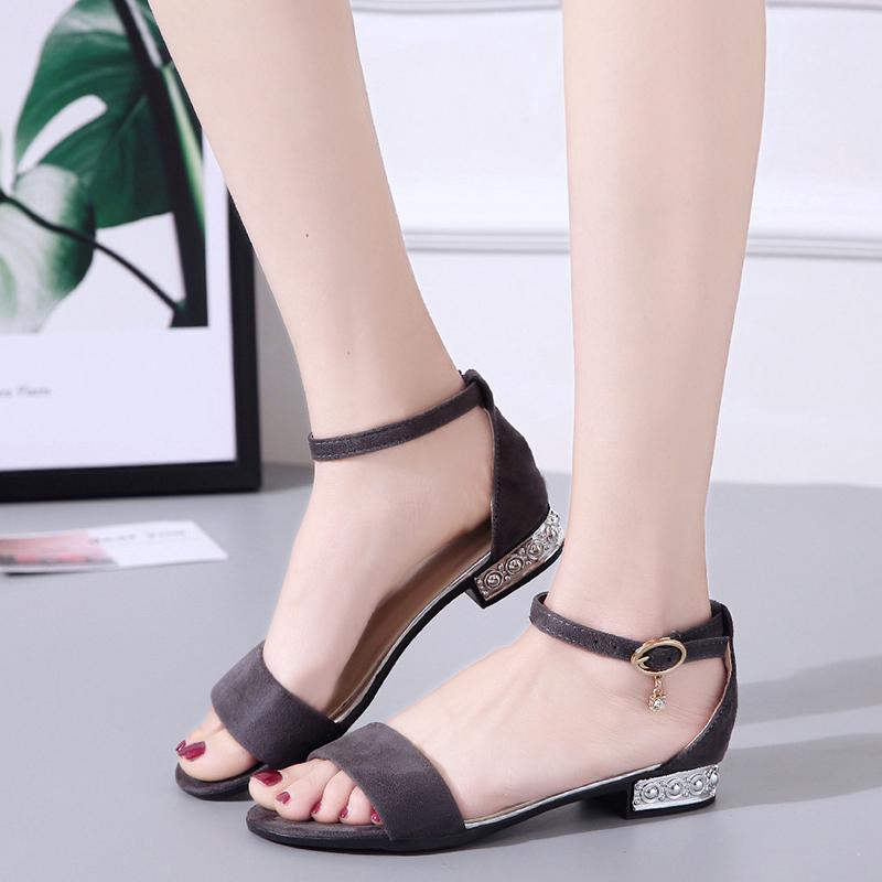 XCZJ Korean Style 2018 Summer Women Sandals Open Toe Flip Flops Women's Flat Sandle With low Women Shoes Gladiator student Shoes 19