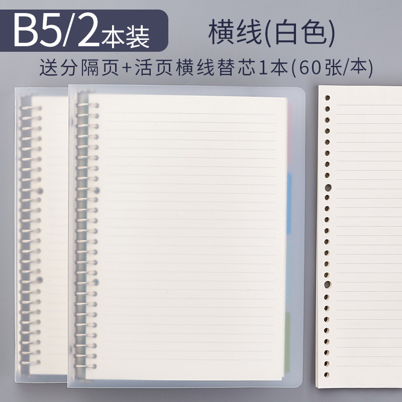 B5 Horizontal Line 2 (send 8 Separate Pages) / Send Refills (60)
