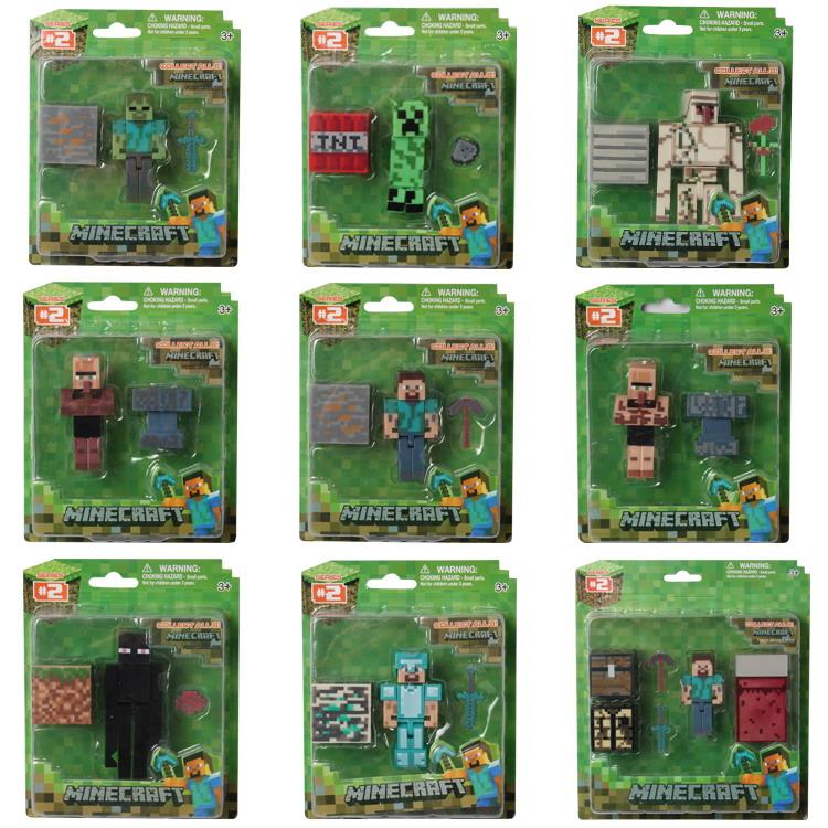 新品乐高我的世界模型人仔益智拼装积木儿童史蒂夫钻石剑男孩玩具