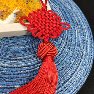 Chinese knot pendant small decorative rope braided line package trailer hanging evil spirits town house lucky red to give away foreigners
