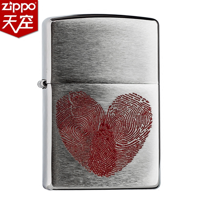 801f72209ae ZIPPO counter genuine fingerprint heart heart according to 29068 Zhi Bao genuine  Valentine s day love gift