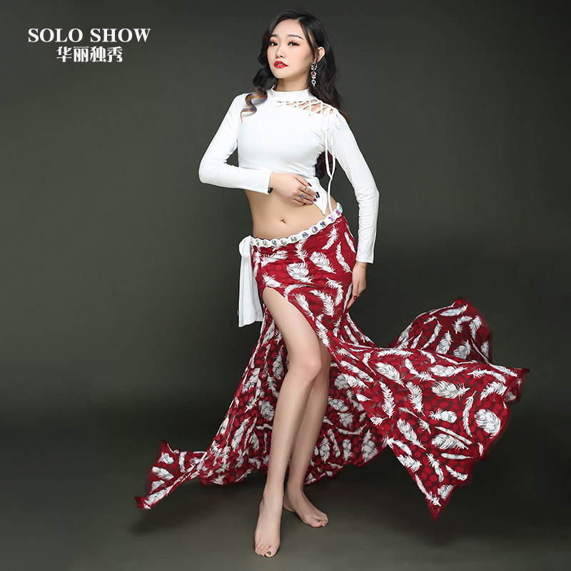 f038f5dc8 Gorgeous solo belly dance skirt spring 2019 new high-split sexy dress Belly  Dance Dance Practice clothing