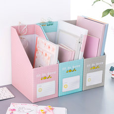 Desktop bookshelf stationery bookcase paper girl heart folder office artifact storage box book sorting box