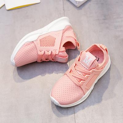 女童运动鞋透气春秋新款男童鞋休闲网鞋儿童