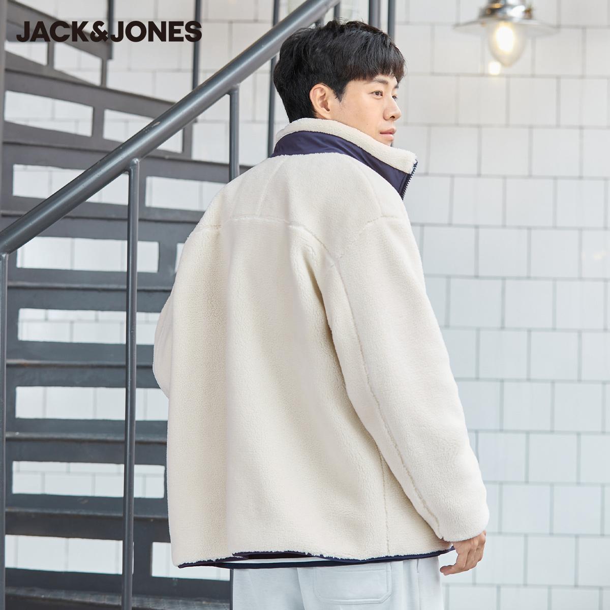 【预售】杰克琼斯炙热秋新情侣潮韩版短款摇粒绒仿羊羔毛外套夹克