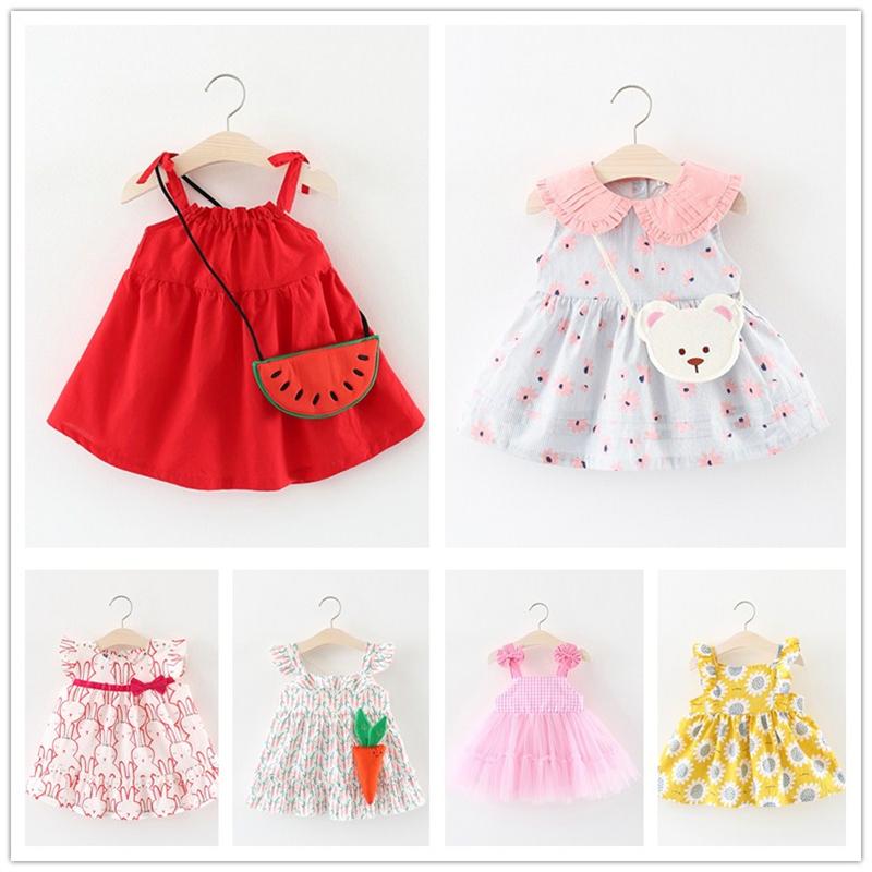 8550237d03d ... year old baby baby skirt. Girls summer dress 2018 new children s  clothing children s vest skirt 0-1-2-