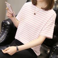 【橙卡】夏季女士条纹短袖t恤