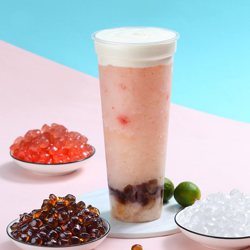 寒天晶球奶茶原料专用黑糖脆啵啵免煮珍珠蒟蒻多肉原味喜茶脆波波