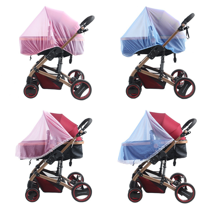 Enlarge Encrypted Infant Stroller Dedicated Universal Baby Car Full Cover Half Nylon 4 Color Baby Mosquito Nets