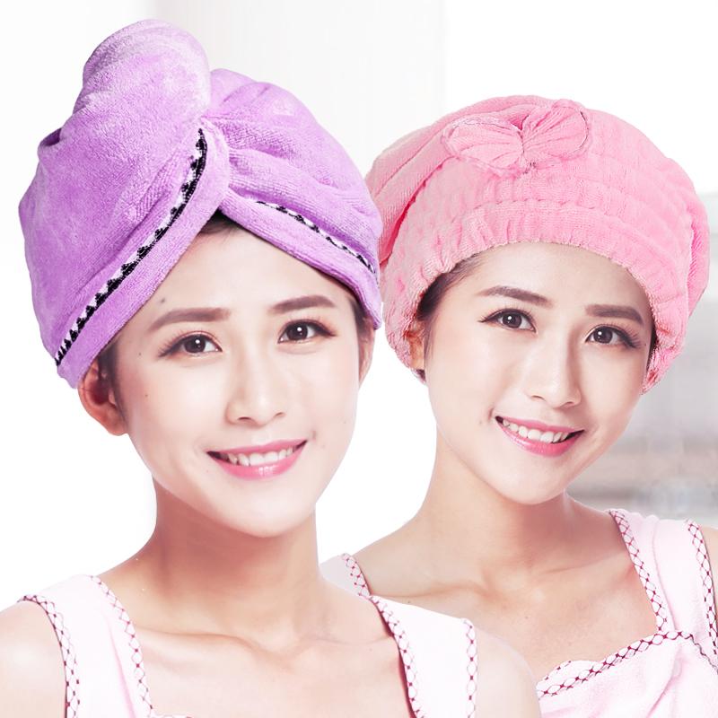 2条装干发帽超强吸水韩国成人可爱擦头发速干包头毛巾浴帽干发巾