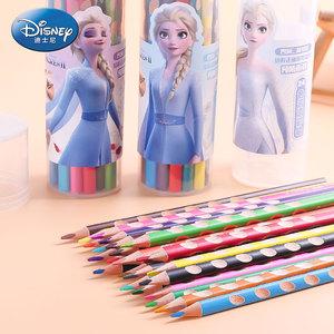 【迪士尼】冰雪奇缘学生绘画彩色铅笔24色