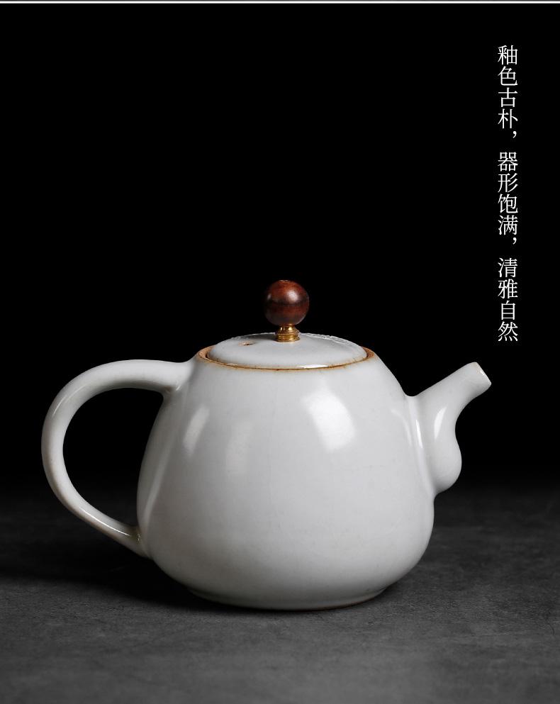 Jingdezhen your up open piece of pure manual hand - made kung fu tea set little teapot ceramics single pot of restoring ancient ways making tea with tea