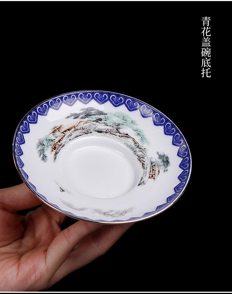 Ceramic only three tureen retro 300 ml ml cups oversized kunfu tea tea bowl of a single set of household
