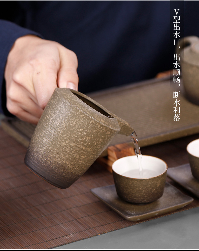 Tea seed Japanese coarse pottery side to Tea ware porcelain stone fair keller cup points home well cup and a cup of Tea